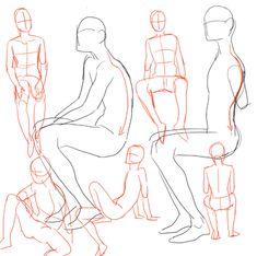 Картинки по запросу сидячие позы для рисования