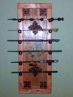 harry potter wand rack