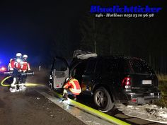 Hurlach / B17: Pkw brennt während der Fahrt – Personen können sich retten