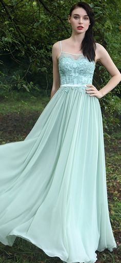 eDressit Green Spaghetti Straps Bridesmaid Dress
