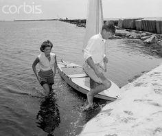 jackie enjoying a sail with her fiance