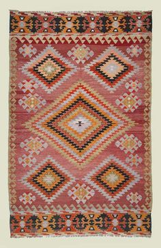 pink kilim rug - beautiful for a classic girls' room