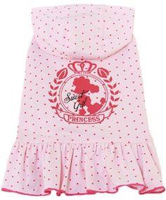 Dobaz Pink Dots Hoodie Dog Dress @ Pupaholic.com