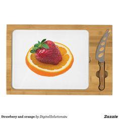 Strawbery and orange cheese board