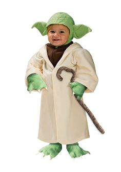 Your toddler will look charming in this wonderful Yoda Star Wars costume.  This  Yoda costume not only looks cute, but it's also warm so your toddler will be having fun on Halloween.