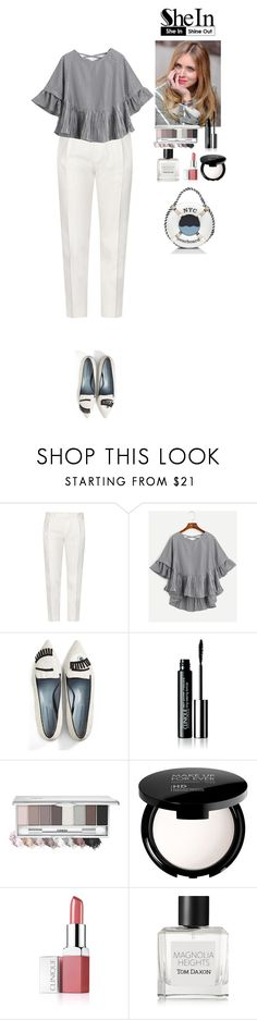 """""""SheIn contest"""" by eliza-redkina ❤ liked on Polyvore featuring Tod's, Chiara Ferragni, MAKE UP FOR EVER, Clinique, Tom Daxon and Kate Spade"""