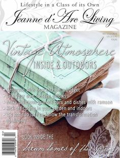 Jeanne dArc Living Magazine  4th Issue 2016 Vintage Atmosphere Inside and Outdoors Jeanne dArc Living Magazine   New, unread condition. We are happy to answer any questions, and to send you more pictures at your request.  Thank you for visiting our shop.