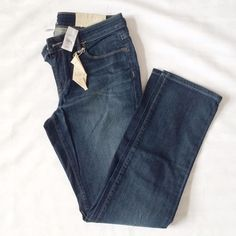 """Sold These are NWT and in perfect condition. They're the straight leg by Ann Taylor. Inseam is 31-32"""" Ann Taylor Jeans Straight Leg"""
