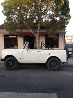 International Scout in winter white