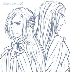 Father and Son (Oropher and Thranduil) by rainpiece