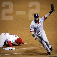 Yeah...!!!  This is the awesome final out of the Game 4.  An absolutely perfect play between Uehara & this man, Mike Napoli.