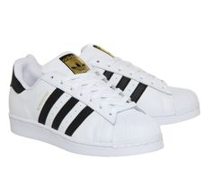 Buy White Black Foundation Adidas Superstar 1 from OFFICE.co.uk.