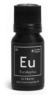 Eucalyptus oil cleanses a room and treats sinus issues.