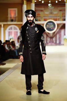 Get inspired from the design and get something like this Tailormade Sherwani Groom, Mens Sherwani, Wedding Sherwani, Wedding Dresses Men Indian, Wedding Dress Men, Wedding Suits, Wedding Wear, Indian Men Fashion, Mens Fashion Suits