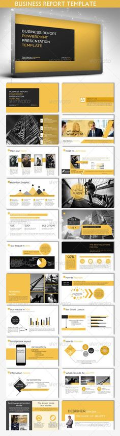 Buy Business Report Powerpoint Template by buicuong on GraphicRiver. MAIN FEATURES 23 well designed powerpoint slides Widescreen Option aspect ratio) standard Option aspect r. Web Design, Slide Design, Book Design, Layout Design, Keynote Design, Powerpoint Design, Design Brochure, Powerpoint Presentations, Presentation Design