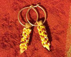 corn earrings, beading idea