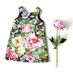 Meadowood Pocket Dress, Toddler and Girl Summer/Fall, by Amanda Archer Collection www.amandaarcher.com