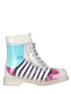 Natural Rubber Lace Up Rain Boots on shopstyle.com