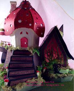 SVGCuts Fairy House, 3D paper art