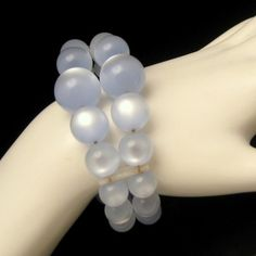 Are you a fan of blue? Check out this Vintage 2 Strand Blue LUCITE MOONGLOW Beads Chunky Statement Cuff Bracelet, 44.95 from www.myclassicjewelryshop.com
