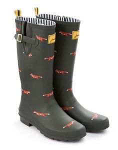 With winter comes rain and hopefully snow. Be prepared with a new pair of wellies.  Green Welly Print - Womens Joules £37.95