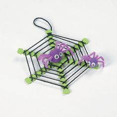 Spiderweb With Spiders Craft, totally gonna try to make these!