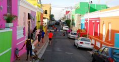 Bo-Kaap, Kapsztad, Republika Południowej Afryki www. Cape Town South Africa, Most Beautiful Cities, Holiday Destinations, Cool Pictures, Places To Go, Around The Worlds, Street View, Colours, City