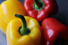 fresh red and yellow peppers turn ordinary chili into a fresh Chicken Chili
