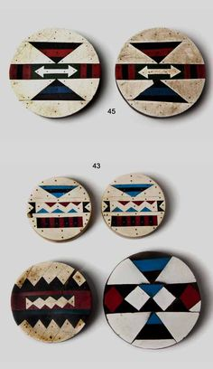 South Africa | Ear plugs from the Zulu people; inlaid vinyl | Est.  Lot 43) 2'500 - 3'000 ZAR and Lot 45) 2'00 - 2'500 ZAR ~  May '15