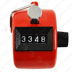 From 1.13 Red 4 Digit Hand Tally Counter Clicker For Sports And Hobbies
