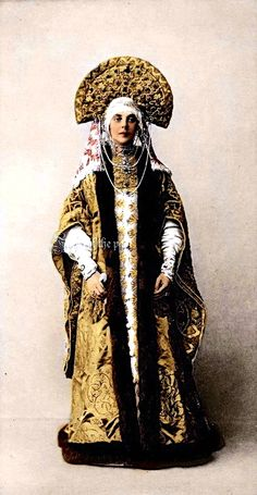 Princess Orlova Davydova in Masquerade Costume Ball of 1903 at the Winter Palace. by ~VelkokneznaMaria.