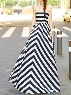 Shop Choies Limited Edition Black Stripe Off Shoulder Maxi Dress from choies.com .Free shipping Worldwide.