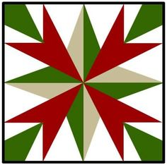 Barn quilt pattern! Because I'm sure that's where the Christmas decorations will be!