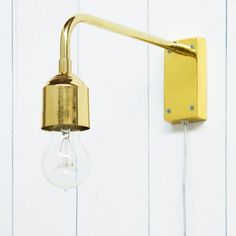 Gold Wall Lamp - New In