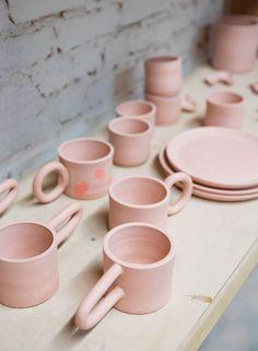 Pink ceramics | follow @shophesby for more gypset boho modern lifestyle + interior inspiration www.shophesby.com
