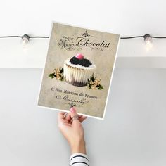 Cupcake Food Art Kitchen Wall Decor French Food Poster | Etsy Art Prints For Sale, French Food, Kitchen Art, Food Art, Wall Decor, Frame, Etsy, Wall Hanging Decor, Picture Frame