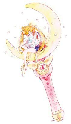 sailor moon wand and usagi