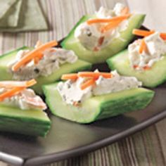 Cream Cheese 'n Herb Cucumber Bites | MyRecipes.com