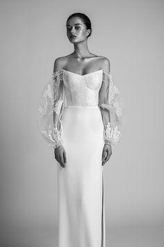 LIVNÉ WHITE- RITA WEDDING DRESS — Alon Livné White Designer Wedding Gowns, Gown Wedding, Lace Wedding, 80s Dress, Bridal Style, Wedding Styles, Wedding Ideas, Bridal Dresses, Marie