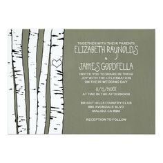 Birch Tree Wedding Invitations Announcements