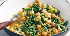 Ein indisch inspiriertes Gericht mit nussigen Kichererbsen und würzigem Currypulver. Dazu am besten Basmatireis servieren.