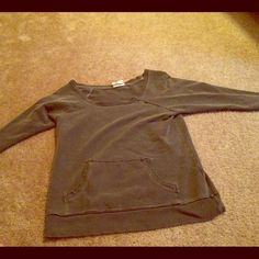 Boat Neck Gray Sweatshirt With Pocket This is a very comfortable boat neck gray sweatshirt with three quarter length sleeves. In brand new condition. Purchased from Urban Outfitters. Urban Outfitters Tops Sweatshirts & Hoodies
