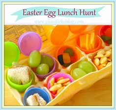 Easter Egg Lunch Hunt... love this idea for actually getting some real food into your kids on Easter!