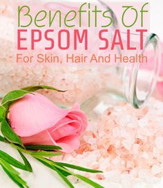 Epsom salt has been used in the beauty industry for a while now. But do we know why? Here is the answer. In this article, we give you all the ... #epsomsalt #health