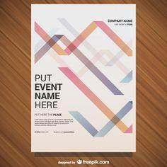 Vector free poster geometric design Free Vector