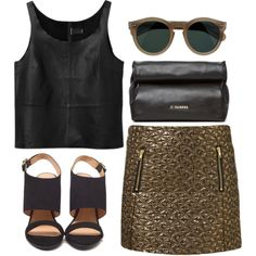 metallic gold, created by rosiee22 on Polyvore