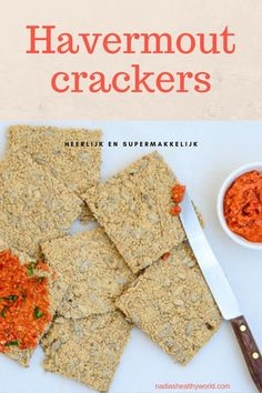 Havermoutcrackers – Nadia's Healthy World Clean Recipes, Low Carb Recipes, Healthy Recepies, Fusion Food, Low Carb Breakfast, International Recipes, Recipe Collection, My Favorite Food, Food Hacks
