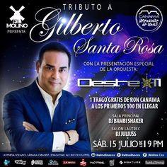 "El Molino presenta: ""Tributo a Gilberto Santa Rosa por Orquesta Oeste 11"" http://crestametalica.com/evento/molino-presenta-tributo-gilberto-santa-rosa-orquesta-oeste-11/ vía @crestametalica"