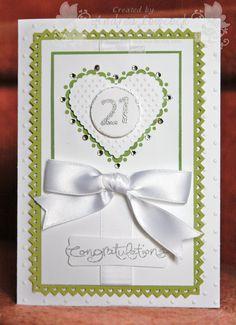 Handmade 21st birthday card ... Blog - EnchantINK ... Stampin' Up! - Sweet treat hearts