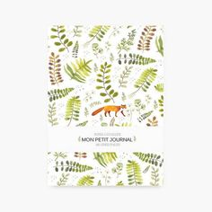 Notebook, fox, journal, diary, flowers pattern, floral, A6, stationery, english pattern, gift, Tagebuch, watercolor, little notebook, cute